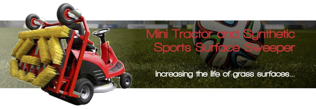 Mini Tractor and Synthetic Sports Surface Sweeper